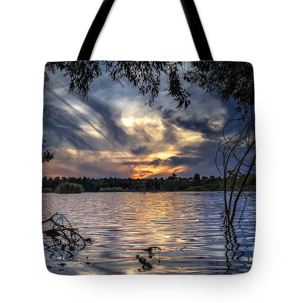 Autumn Sky Tote Bag by Stelios Kleanthous