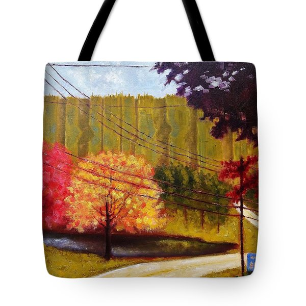 Autumn Slopes Tote Bag
