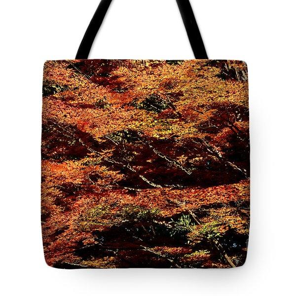 Tote Bag featuring the digital art Autumn Solarisation 1 by Rudi Prott