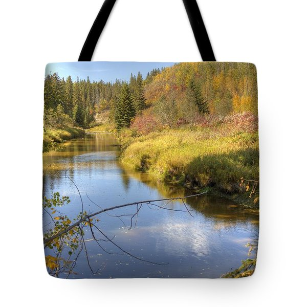 Autumn Splendor Tote Bag by Jim Sauchyn