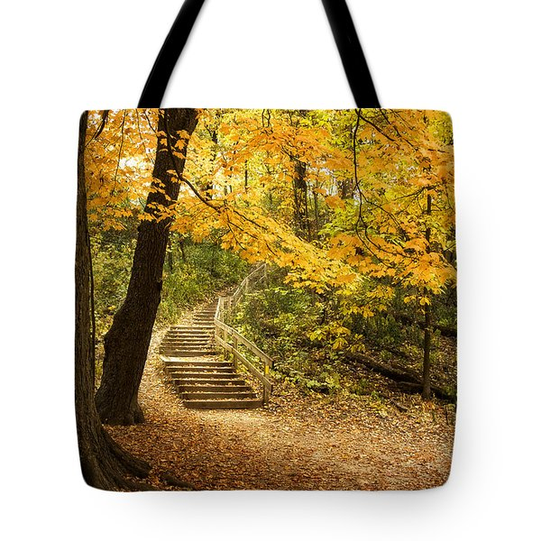 Autumn Stairs Tote Bag by Scott Norris