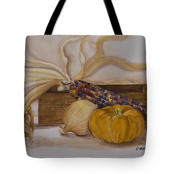Tote Bag featuring the painting Autumn Still Life by Rebecca Matthews