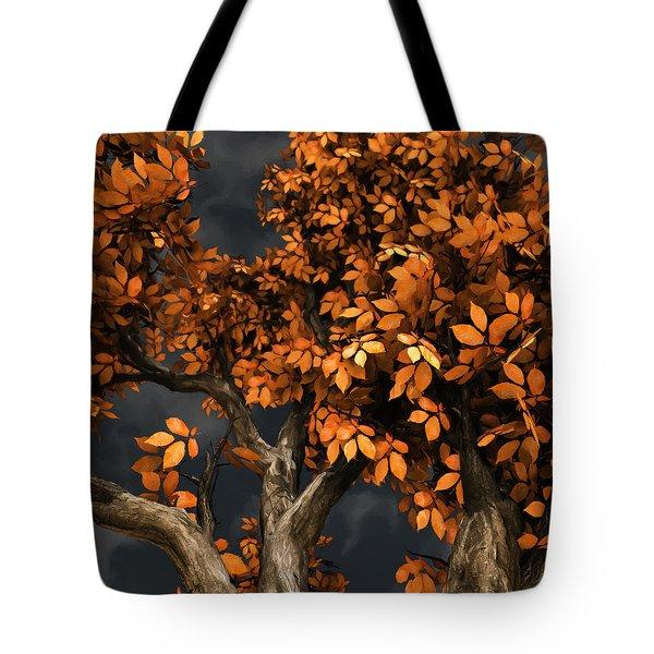 Autumn Storm Tote Bag by Cynthia Decker