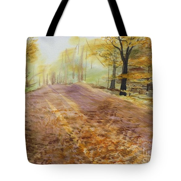 Autumn Sunday Morning Tote Bag
