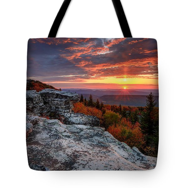Autumn Sunrise At Dolly Sods Tote Bag by Jaki Miller