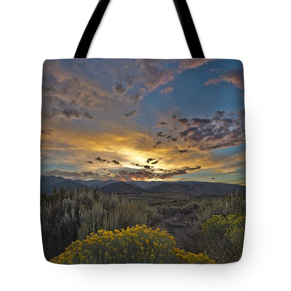 Autumn Sunset Tote Bag by Dianne Phelps