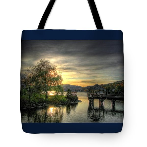 Autumn Sunset Tote Bag by Nicola Nobile
