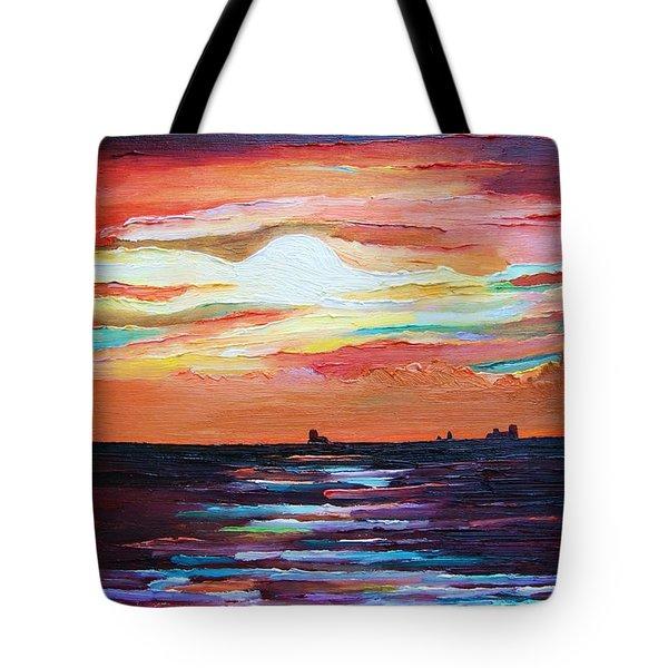 Autumn Sunset On The Baltic Sea Tote Bag