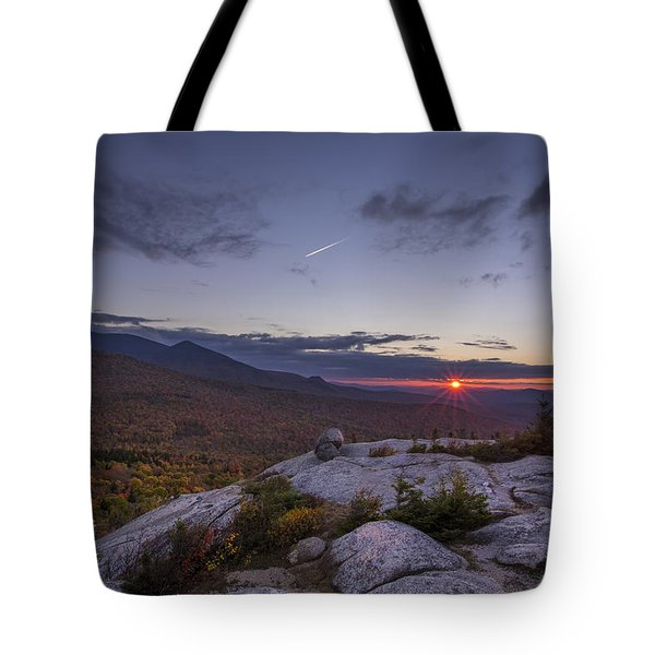 Autumn Sunset Over Sugarloaf Mountain Tote Bag
