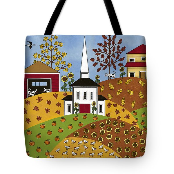 Autumn Tapestry Tote Bag by Medana Gabbard
