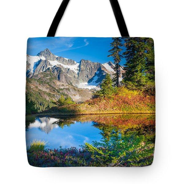 Autumn Tarn Tote Bag by Inge Johnsson