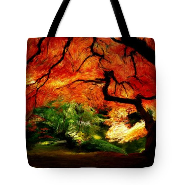 Tote Bag featuring the painting Autumn Tree by Bruce Nutting