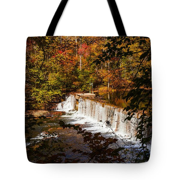 Autumn Trees On Duck River Tote Bag by Jerry Cowart