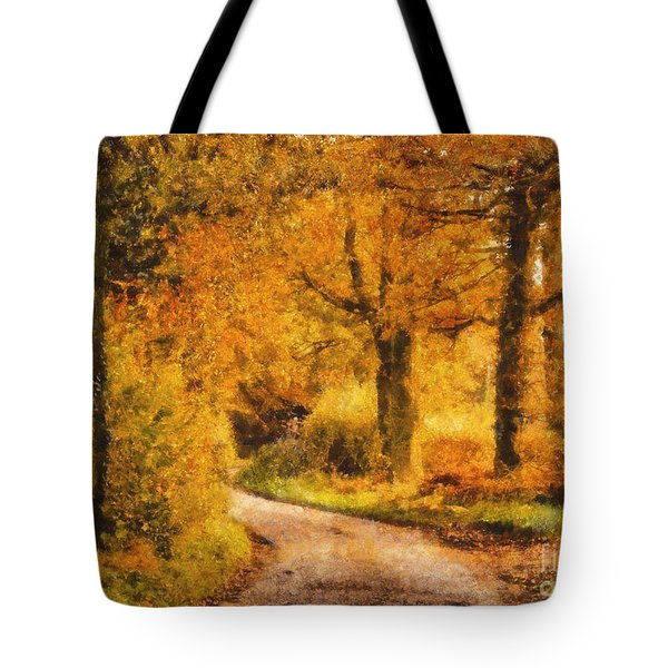 Autumn Trees Tote Bag by Pixel Chimp
