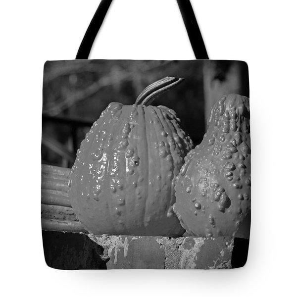 Autumn Trio In Black And White Tote Bag