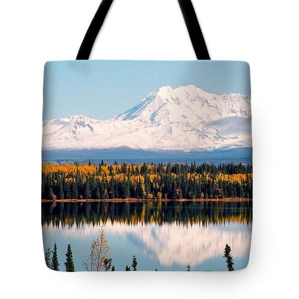 Autumn View Of Mt. Drum - Alaska Tote Bag