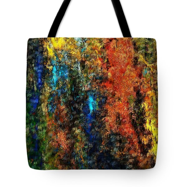 Tote Bag featuring the digital art Autumn Visions Remembered by David Lane