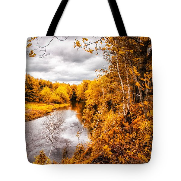 Autumn White Mountains Maine Tote Bag by Bob Orsillo