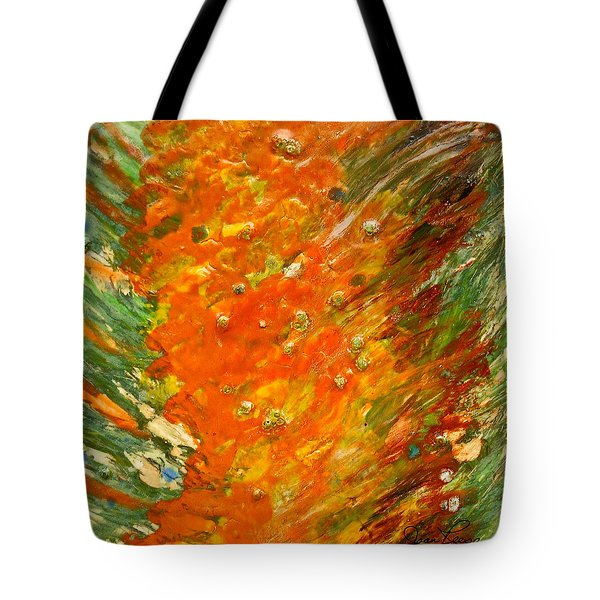 Tote Bag featuring the painting Autumn Wind by Joan Reese