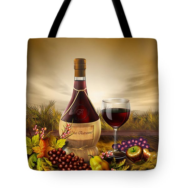 Autumn Wine Tote Bag