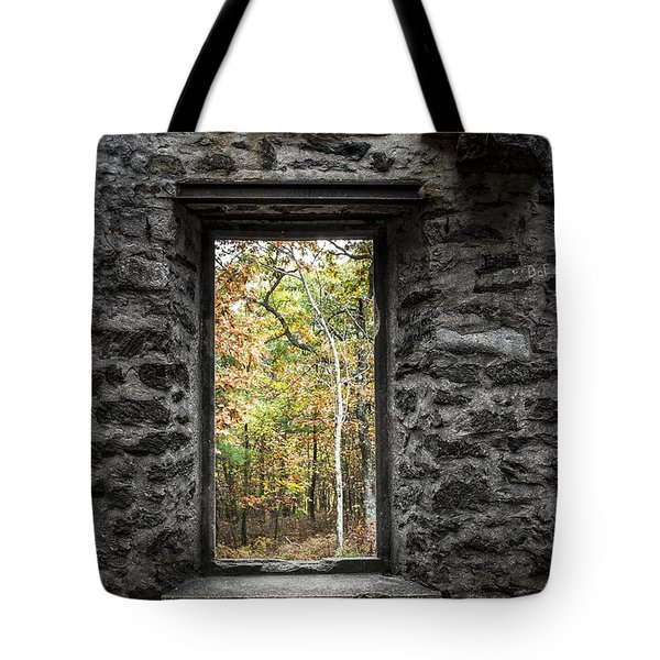 Autumn Within Cunningham Tower - Historical Ruins Tote Bag by Gary Heller
