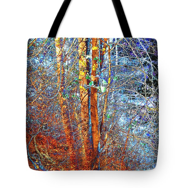 Autumn Woods Tote Bag by Ann Powell