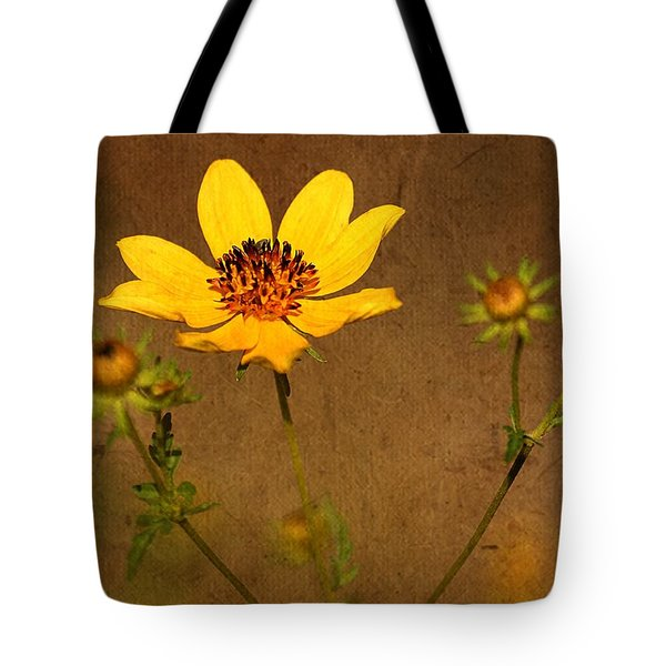 Autumn Yellow Wild Flower Tote Bag by Ester  Rogers
