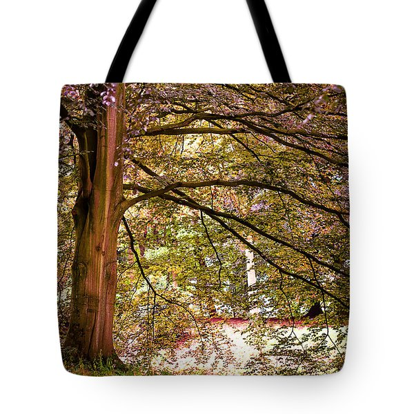 Autumnal Colors In The Summer Time. De Haar Castle Park Tote Bag by Jenny Rainbow