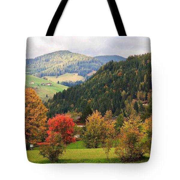 Autumnal Colours In Austria Tote Bag