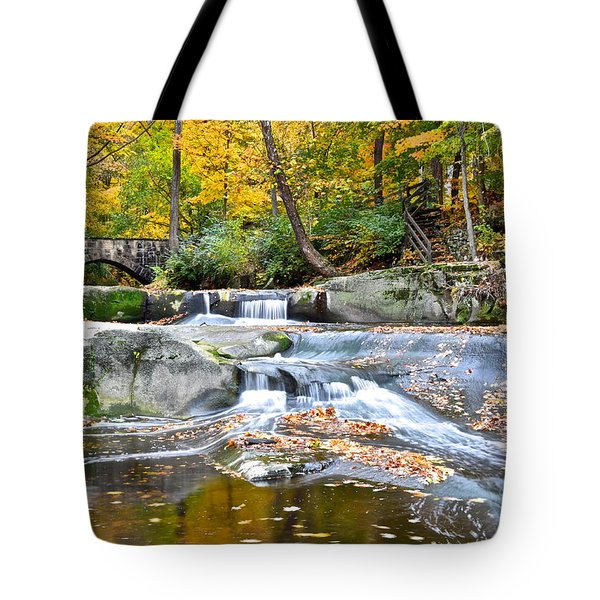 Autumnal Wonderland Tote Bag by Frozen in Time Fine Art Photography