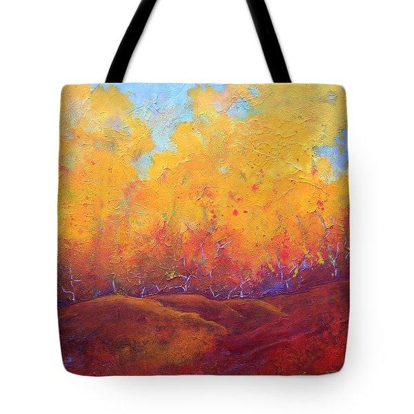 Autumn's Blaze Tote Bag by Nancy Jolley
