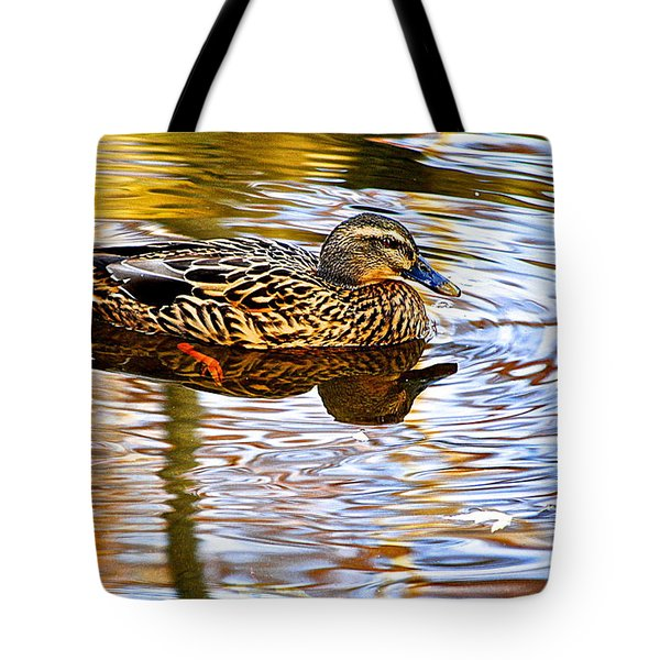 Autumns Brilliance Tote Bag by Frozen in Time Fine Art Photography