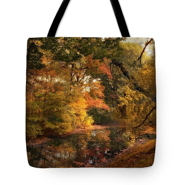 Tote Bag featuring the photograph Autumn's Edge by Jessica Jenney