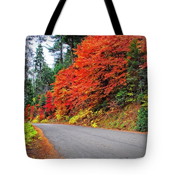 Tote Bag featuring the photograph Autumn's Glory by Lynn Bauer