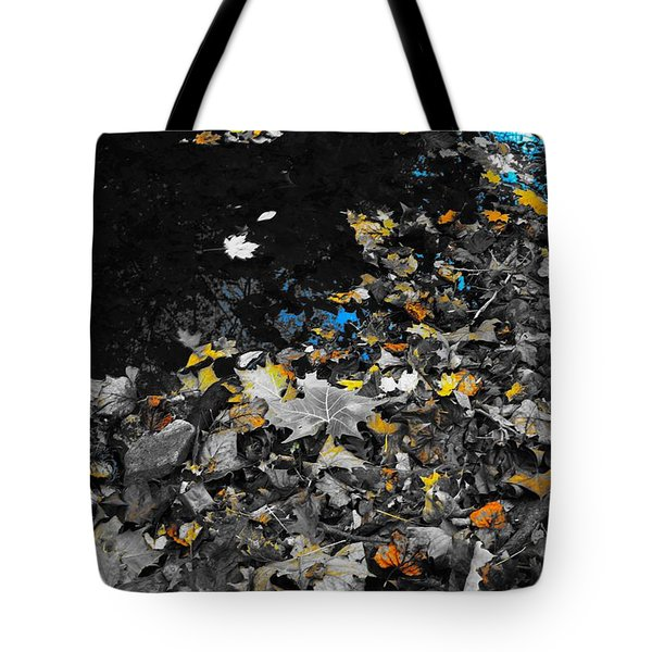 Tote Bag featuring the photograph Autumn's Last Color by Photographic Arts And Design Studio