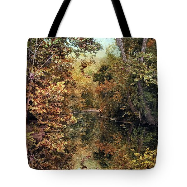 Autumn's Mirror Tote Bag by Jessica Jenney