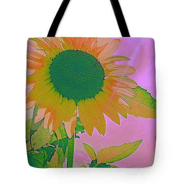 Autumn's Sunflower Pop Art Tote Bag