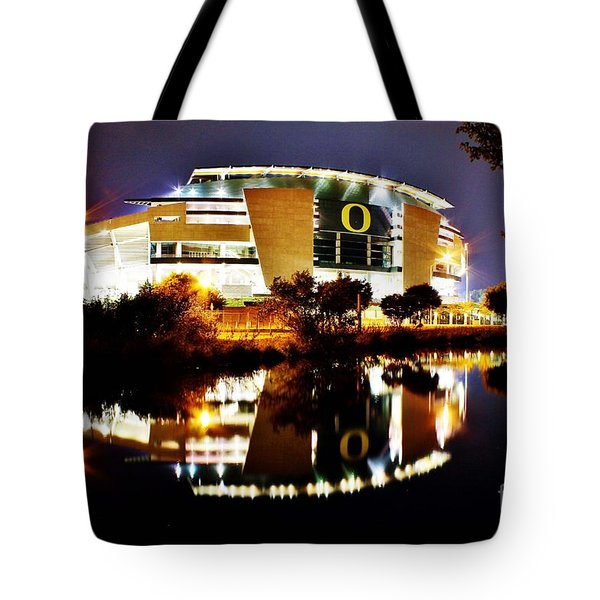 Autzen At Night Tote Bag
