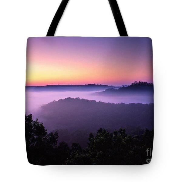 Auxier Ridge Dawn - Fm000023 Tote Bag by Daniel Dempster