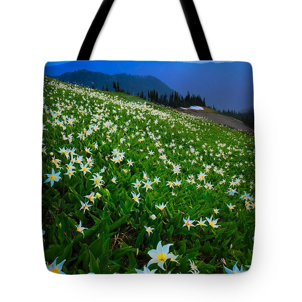 Avalanche Lily Field Tote Bag