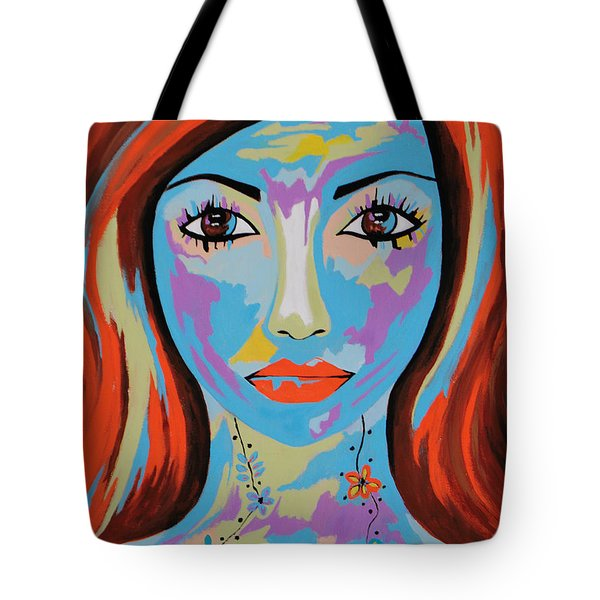 Tote Bag featuring the painting Avani by Kathleen Sartoris