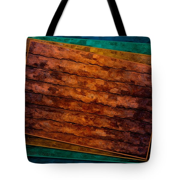 Tote Bag featuring the photograph Avant Rust by WB Johnston