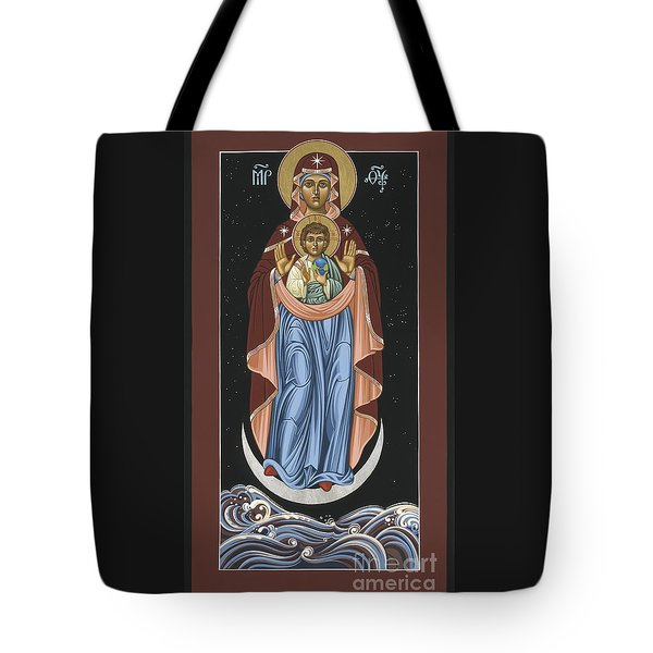 Tote Bag featuring the painting Ave Maris Stella  Hail Star Of The Sea 044 by William Hart McNichols