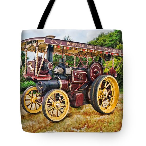Aveling And Porter Showmans Tractor Tote Bag