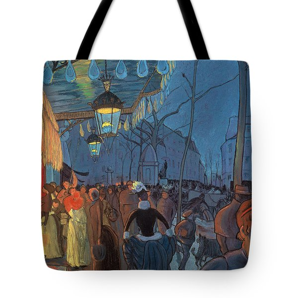 Avenue De Clichy Paris Tote Bag by Louis Anquetin