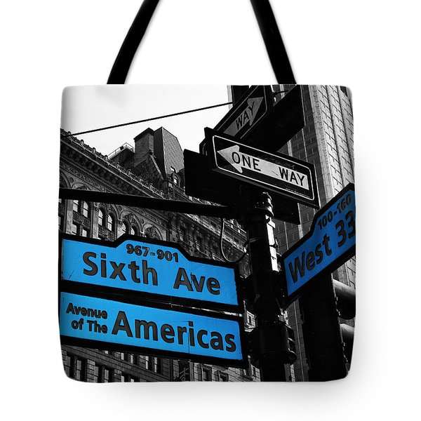 Avenue Of The Americas Tote Bag