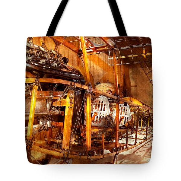 Aviation - Early Days Of Aviation Tote Bag by Mike Savad