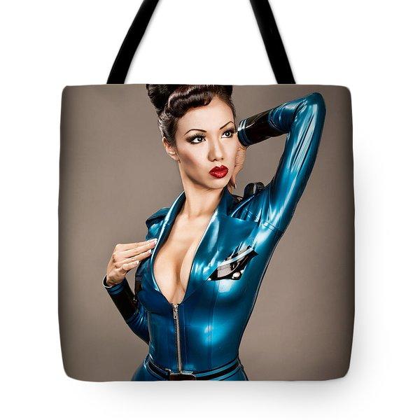 Aviator Vixen 1176 - Science Fiction Pinup Girl Tote Bag