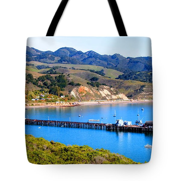 Avila Beach California Fishing Pier Tote Bag