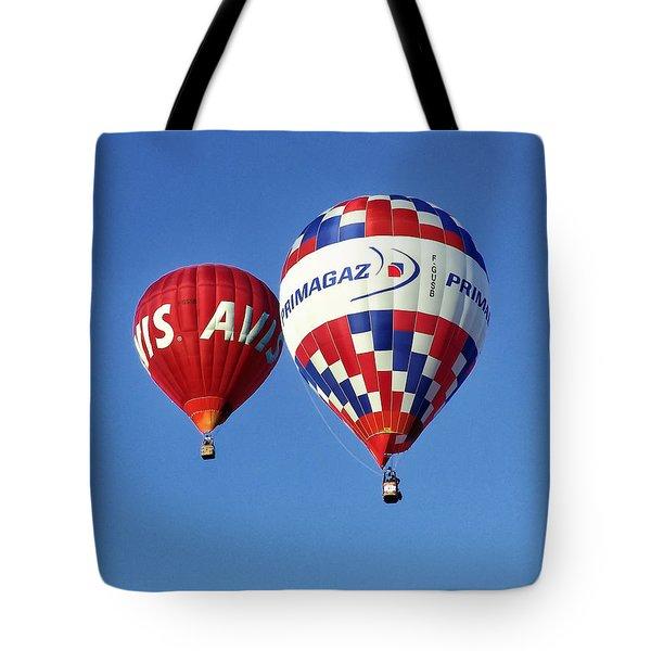Tote Bag featuring the photograph Avis Balloon by John Swartz